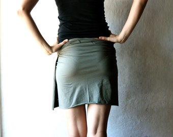 Wrap skirt, Cotton skirt, Olive skirt, Jersey skirt, Womens clothes, Womens skirt, Pencil skirt, Maternity skirt, plus size, Mini skirt
