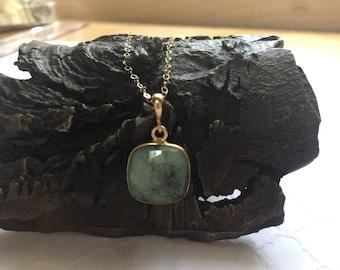 Natural Green Chrysoprase Necklace