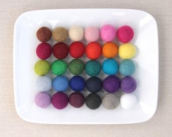 Felt Pom-Poms, Medium // Felt Balls by Benzie // Felted Balls, Felt Beads, Felt Ball Garland, Wool Pom Poms, Wool Felt Balls, DIY
