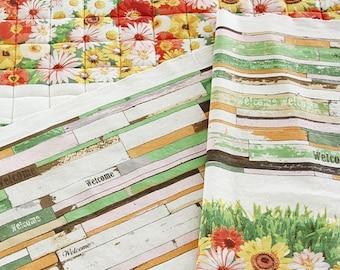 Cotton Linen Fabric Cloth -DIY Cloth Art Manual Cloth -Green Nature Cloth 55x28 Inches