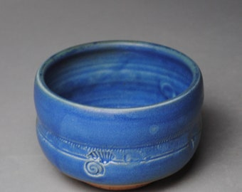 Tea Bowl Blue Matcha Chawan H94