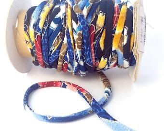 Chirimen cord - 3mm - Blue multi