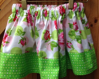 Girls floral skirt age 3-4 years