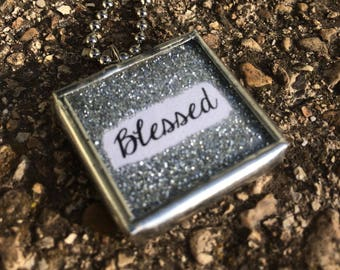 Soldered Charm Necklace Blessed and Truman Capote line