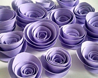 Purple Roses - Paper Flowers - Purple - Wedding Decoration - Table Scatter