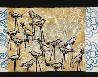 Handmade Art Quilt - Birds of a Feather