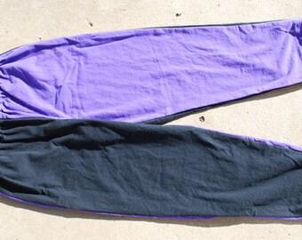 Made to Order Team Colors/ Ravens Black and Purple Unisex Adult Pajama Pants