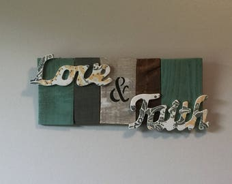 Love and faith wall decor