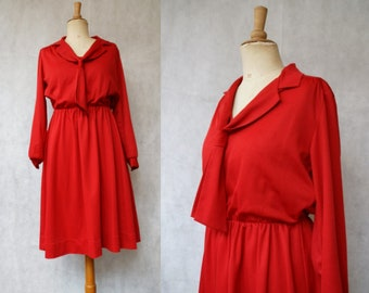 Red 1970s does 1920s Sailor Dress