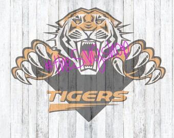 SVG File, Tigers, Tiger roaring, Tigers Logo, Tigers Jumping