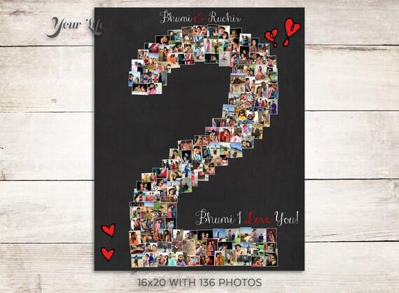 Year anniversary nd anniversary gift photo collage