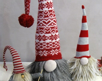 Norwegian Christmas gnome Tomte gnome doll Handmade Swedish Christmas Nisse Nordic gnomes Red White Scandinavian gnomes OOAK Kids Christmas