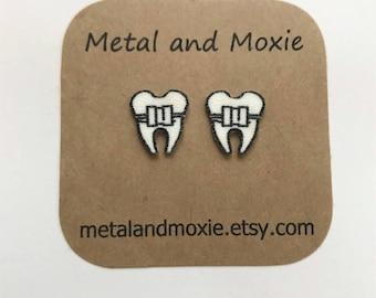 Tooth with Braces, Dental School Graduation, Orthodontist Gift, Dental Office Staff, Dental Hygienist, Under 10 Dollars