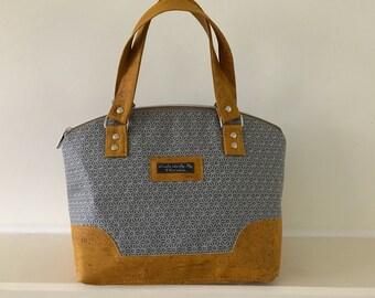 Mustard cork Domed handbag , purse ,small bag ,handbag ,handy bag