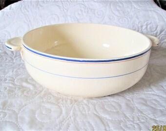 Vintage French Bowl, large serving bowls, porcelain dishes, salad bowls, cream dishes