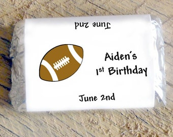Football Candy Wrappers for Boys Birthday 1st 2nd 3rd 4th 5th Birthday Party Boys Baby Shower Candy Bar Wrappers