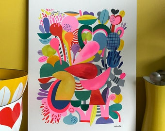 Abstract Day 62 . . . original watercolor... 12 in x 16 in...