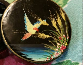 lovely bird lacquer keepsake box