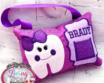 Personalized Tooth Fairy Pillow for Girls