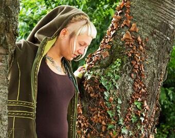 Fleece jacket, embroidered coat, jacket, Tip hood
