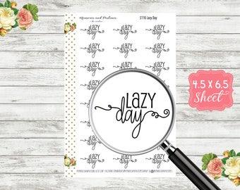 S116 Lazy Day Planner Stickers - Script Stickers - Script Planner Sticker - Cursive Sticker - Bullet Journal - BUJO Sticker - Header