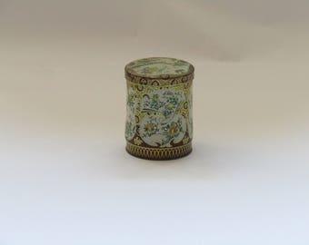 Vintage English tin can, vintage tin container, vintage tin canister, vintage tin box, vintage home decor, Collectible  box, kitchen decor.
