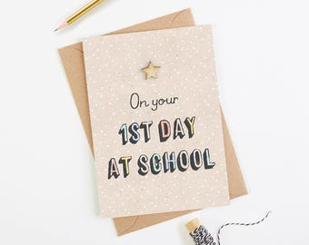 1st Day at School Card