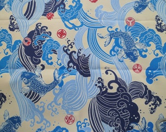 Fabric L48cm × W108cm Japanese Koi (CARP) design