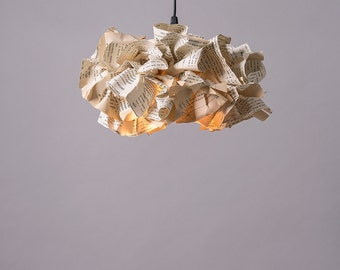 Pendant Lamp, Book Paper Lamp, Ceiling light, light Pendant, Reading Office Decor