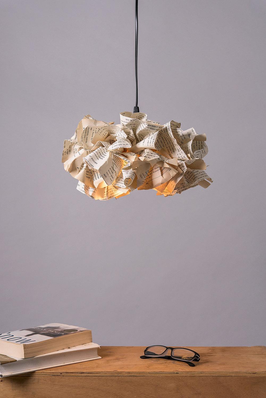 pendelleuchte buch papier lampe deckenleuchte leichte. Black Bedroom Furniture Sets. Home Design Ideas