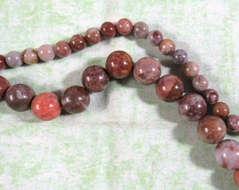 1 Strand Morrocco Agate Gemstone Round Beads  (B409j)