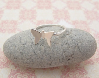 Sterling silver Butterfly staking ring.