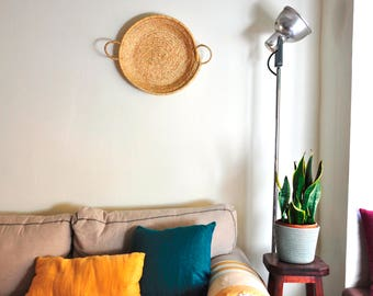 Wall Basket, Woven wall basket, straw bag wall, straw basket wall, boho decor, Wall Decor Basket,