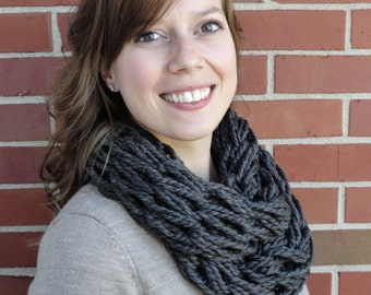 Infinity Scarf - Chunky Infinity Scarf - Knitted Scarf - Winter Scarf - Chunky Scarf - Infinity Scarf Knit - Knitted Infinity Scarf
