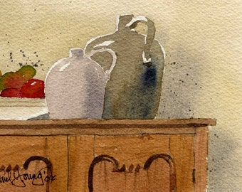 Earthenware-Print from an original watercolor painting