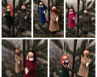 Customized Carolers Ornament Set