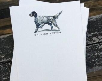 English Setter Dog Note Card Set