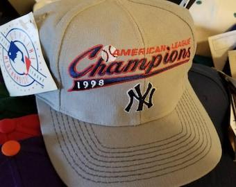 New Yankees world series snapback hat, 90s snapback,deadstock