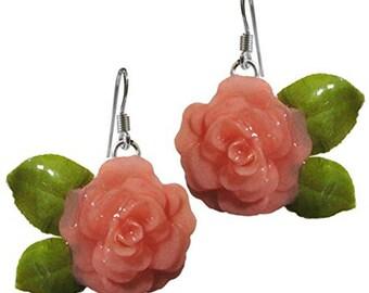 Orecchini rose rosa