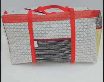 Large Laminate Sail Cloth Duffel Bag