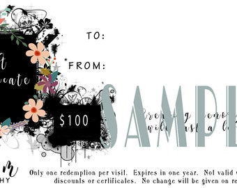 Sue M Photography 100 Dollar Gift Certificate