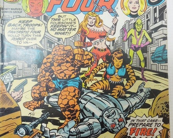 Vintage Fantastic Four. Volume 1. Number 180 March 1977.  Marvel Comics Group. Geekery. Gifts for Guys. Collectible.