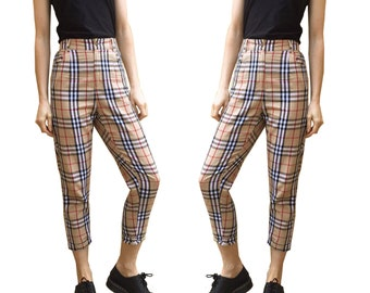 Tartan Nova Check Chino Capri Pants/Trousers