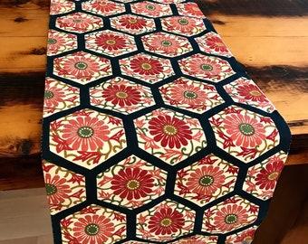 Kimono Obi Table Runner, Bed Runner, Table topper, Doilies, Japanese Antique,home decor,  Upcycled from Vintage Japanese fukuro obi.