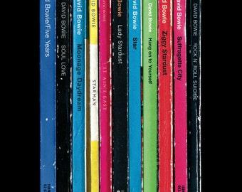 David Bowie 'Ziggy Stardust' Album As Penguin Books Poster Literary Music Print