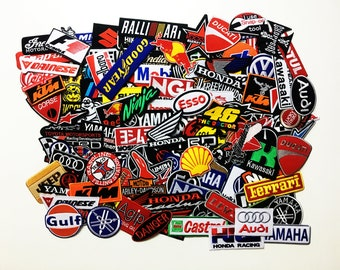 Wholesale Lot Motor Racing Embroidered Sew Or Iron On Patch Motorcycle Sport Random , Wholesale Mixed sizes Random, Logo Motorcycle