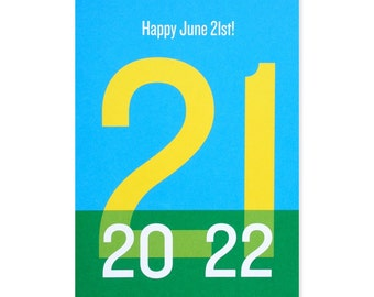 Happy June 21st/Summer Solstice Greeting Card