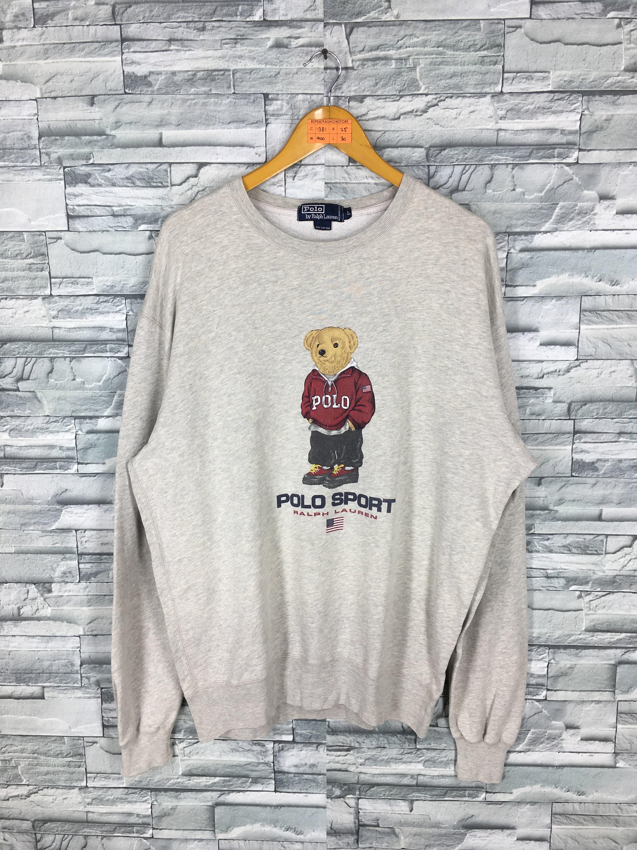 Ralph Wknp0o8 Bear Shirt Polo Lauren T Vintage m0OwvN8n