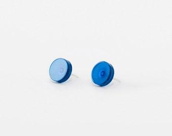 Ohrstecker Mia / 925er Silber / runde Ohrringe 13 Farben