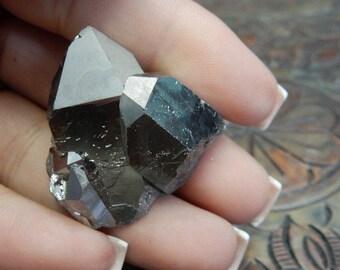 Crystal Cluster Titanium Crystal Clusters Mystic Black Diamond Crystal Quartz Point Cluster - ONE OF A Kind (Rk86B11-01)